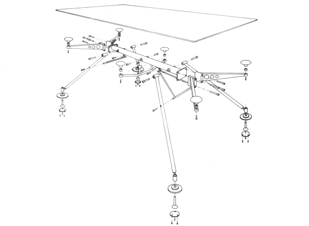 Renault Dining Table Drawing